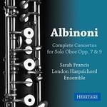 Sarah Francis & London Harpsichord Ensemble, Albinoni: Complete Solo Oboe Concertos