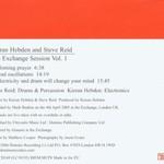 Kieran Hebden and Steve Reid, The Exchange Session, Volume 1