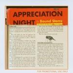 Bound Stems, Appreciation Night
